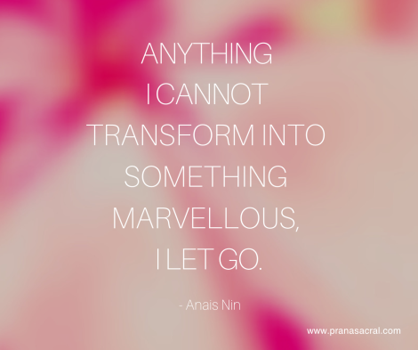 Transformation and letting go