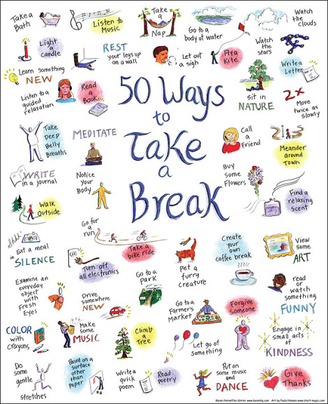 Source: http://www.fullcupthirstyspirit.com/includes/50-ways-to-take-a-break-printable.jpg